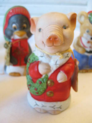"""JASCO """"Critter Bells"""" Christmas PIG Bell w/original tag, Holiday Hog Collectible"""