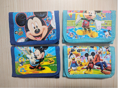 Mickey Mouse Boys Wallet Billfold Zip Kids Cartoon Coin Purse Party Gift