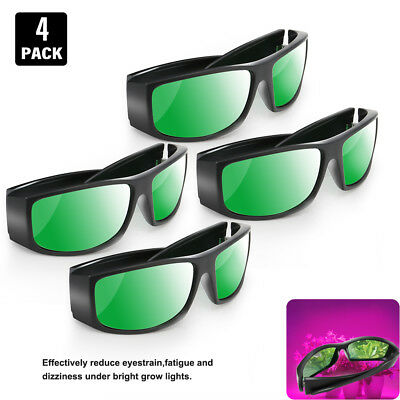 1/2/4pcs LED Grow Room Glasses Anti UV IR Intense Light ReflectionIndoor Garden