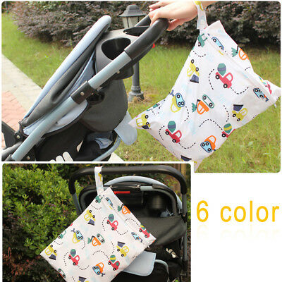Waterproof Reusable Baby Infant Cloth Diaper Nappy Pouch Pocket Dry/Wet Bag