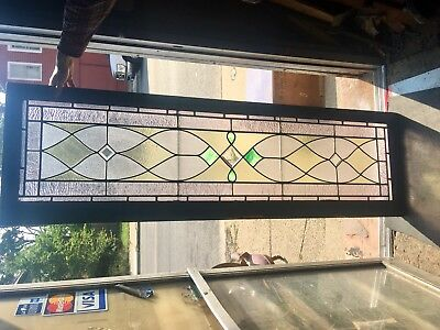 Beautiful Buffalo Transom Leaded Glass Window 1920's Shipping ? Zip