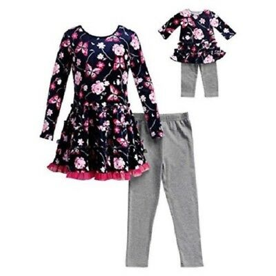 """NWT Navy Girls Dollie & Me Matching Doll outfit fits 18"""" American Girl Size 8"""