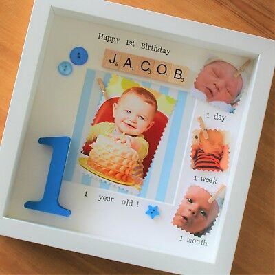 BABY BOY FIRST Year Photo Frame Gift Baby Girl 1St Year Frame 1St ...