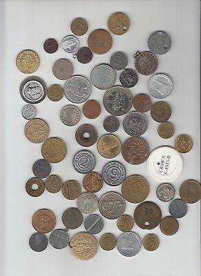 Lot of 57 different primarily Germany German tokens