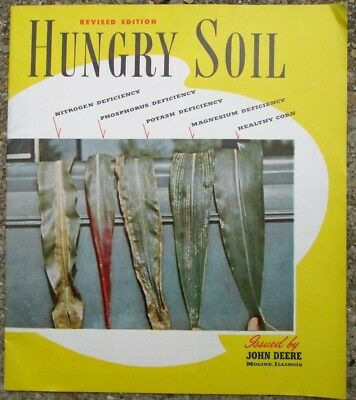 1953 John Deere Tractor Hungry Soil Revised Edition Farm Advertising Booklet EUC