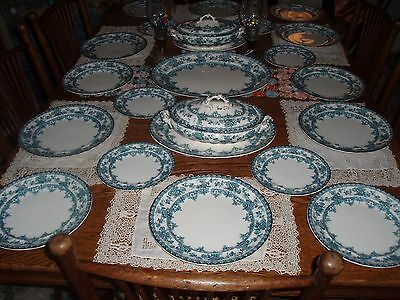 Antique Porcelain Keeling & Co. Watford Pattern Late Mayer For Six