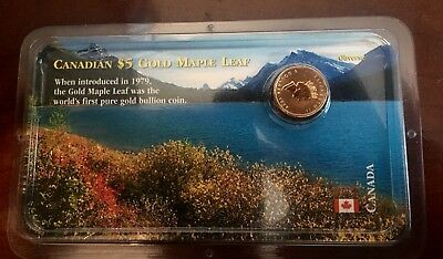 1999 1/10 oz Privy Gold Canadian Maple Leaf (20 Years ANS)