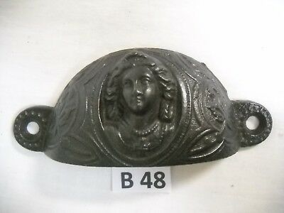 Antique Eastlake Cast Iron Bin Drawer Pulls 1880 Joan Of Arc