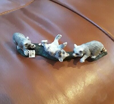 Schleich Animal Figurine, Group of Racoons, 2009
