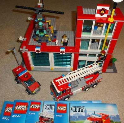 Lego City Fire Station 60004 100 Complete W Instructions 5600