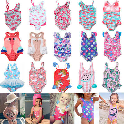 USA Toddler Kids Baby Girls Swimwear Swimsuit Bathing Suit Swimming Clothing