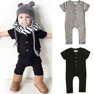 Newborn Baby Boy Girl Clothes Bodysuit Infant Romper Jumpsuit Outfit Sunsuit AU