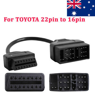 For Toyota 22 Pin To 16 Pin Car Diagnostic Adapter Connect Cable Tool OBD OBD2