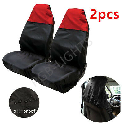 Universal Heavy Duty Nylon Car Seat Covers Waterproof Protectors Van Front Red