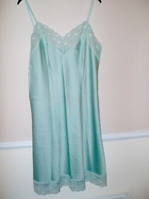 Full Underskirt Size 16 M&S Green Womens Ladies Chemise Petticoats Vintage Used
