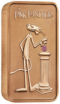 PINK PANTHER 2018 10oz PINK GOLD LIMITED EDITION PINK DIAMOND INGOT