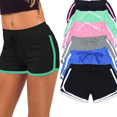 Damen High Waist Shorts Hotpants Kurze Hose Sommer Beach Sports Pants Sporthosen
