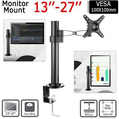 Dual HD LED Desk Monitor Stand Mount Bracket Arm Hold LCD Screen TV AU