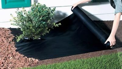 2m x 20m Weed Control Fabric Garden Ground Sheet Cover Mulch Membrane + 50 Pegs