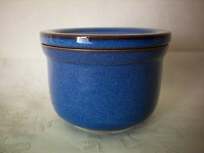 Denby Imperial Blue Covered Lidded Pate Preserve Pot Dish Bowl Excellent Cond