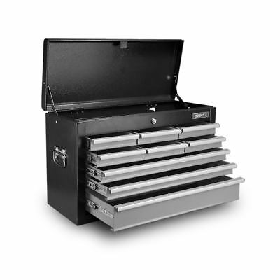 9-Drawer Tool Chest Box Black and Grey