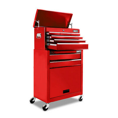 8-Drawer Tool Trolley Red
