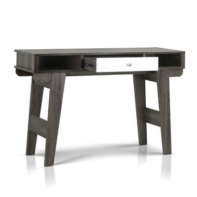 Console Table with Drawers - Dark Grey & White-302699255884