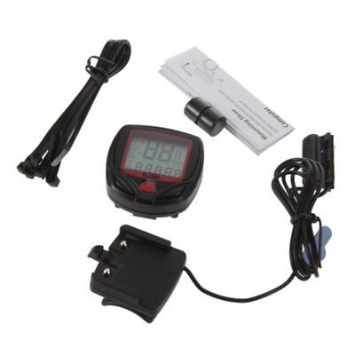 Cycling Bicycle Bike Computer LCD Odometer Speedometer Stopwatch Speed meter
