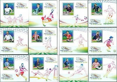 Football Soccer World Cup FIFA 2018 Russia Madagascar MNH stamp set of 12 sheets