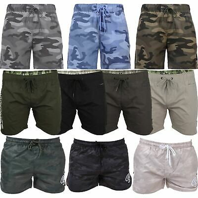 Mens Swimming Shorts Crosshatch Surf Board Trunks Beach Mesh Lined Army Casual
