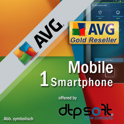 AVG Mobile AntiVirus Security PRO 1 Smartphone 2019 2 ans Android 2018 FR EU