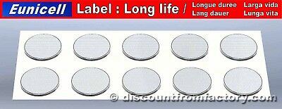 Set of 10 Batteries Lithium Button CR2032, 100% compatible with Maxell CR2032