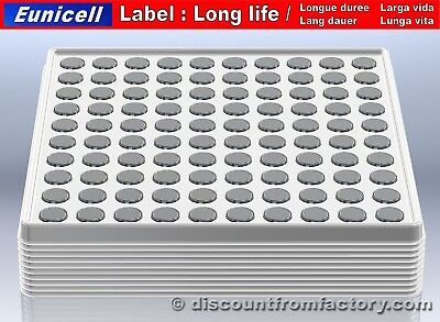 Set of 1000 Alkaline Button Cells AG10, 100% compatible with Maxell SR1130SW