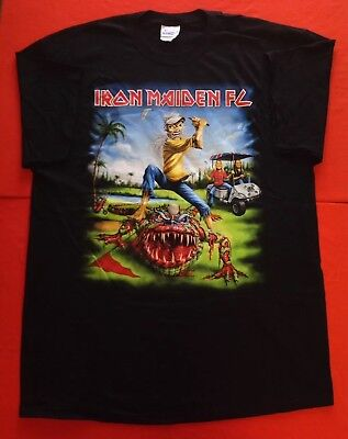 Iron Maiden The Final Frontier World Tour 2011 New Golf Concert Xl Black T Shirt