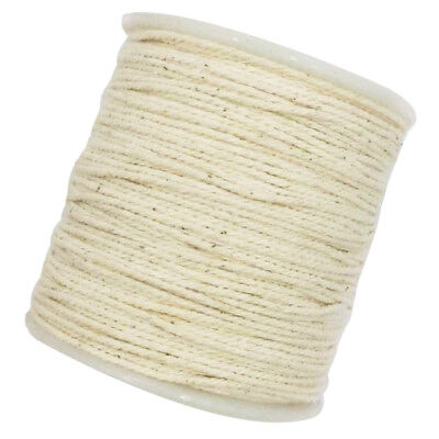 100 M Rustic Cotton Rope Braided Twisted Cord Twine Crafts Raw White 1mm
