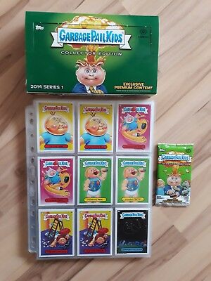Garbage Pail Kids 2014 Series 1. Complete Set 132 total cards a&b + box&wrappers
