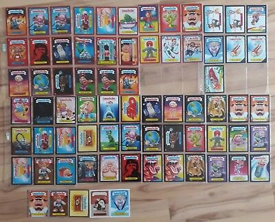 Garbage Pail Kids 2014 Series 1 Color border lot. reds,blacks,sepia,silver,gold