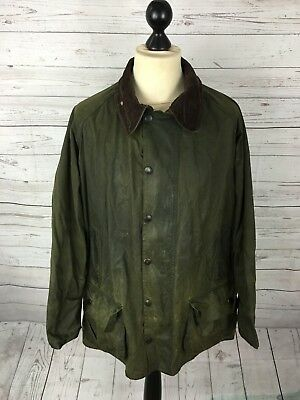 BARBOUR BEAUFORT Wax Jacket - C48/122cm - Green - Great Condition