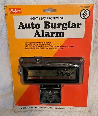 Vintage Safer's Night & Day Auto Burgler Alarm No. E3006A 6/12 Volt System