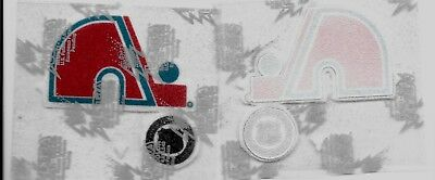 Quebec Nordiques logo patch  ( approx 3x 2 inches) +NHL logo (approx 1 inch)