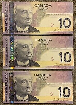 1954 Bank of Canada Devil's Face $10 Banknotes - Wholesale lot of 25