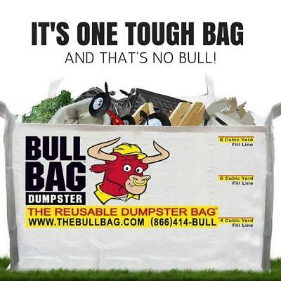 The BullBag - 8CUYD Construction Dumpster Bag: Reusable, Foldable, Portable
