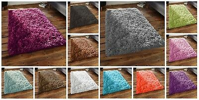 Soft Shaggy Thick Plain Rug Non Shed Thick Pile Modern Area Rugs Non Shed Runner