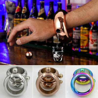 100 ml Creative Hidden Booze Smuggle Bracelet Wine Pot Bangle Flask Jewellery S2