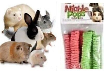 100% Natural Puffed Rice Dental Nibbler Gnaw Chew Rabbits Guinea Pigs Hamsters