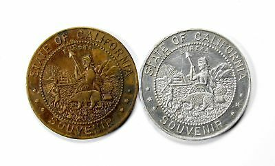Lot of 2 1935 Bronze & Alum. California Pacific Expo Souvenir Tokens AU+ #118403