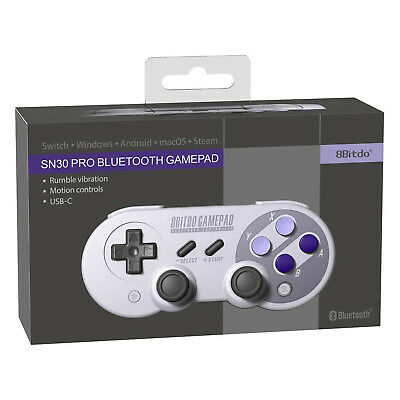 8BITDO SN30 Pro Bluetooth Gamepad Controller for Android, Mac, Windows - New
