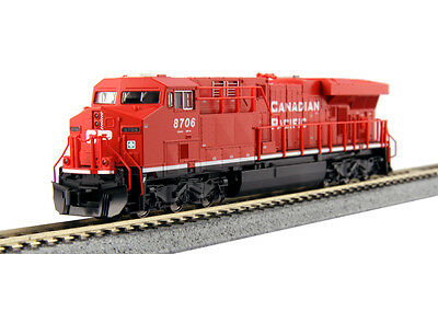 "Kato N 176-8921 GE ES44AC ""Gevo"" Canadian Pacific #8759 DCC Ready Locomotive"