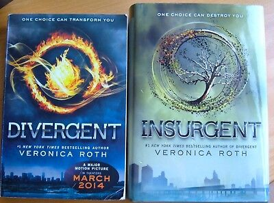 Four veronica roth divergent series 4 signed edition 1st1st hc divergent insurgent series veronica roth 1st edition hc book 1 2 book lot fandeluxe Image collections