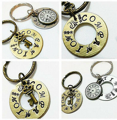 Doctor Who, Time Lord, Doctor Who gift, Hand Stamped Keychain Set